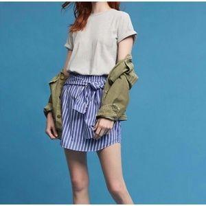 Anthropologie Maeve Nahlah T-Shirt Stripe Dress XS